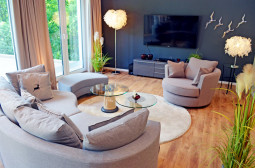 Couch und TV - Apartment Topclass Waldhusen