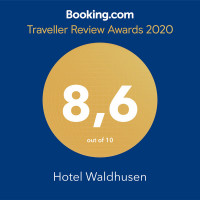 Guest Traveller Review Award von Booking.com für Waldhusen